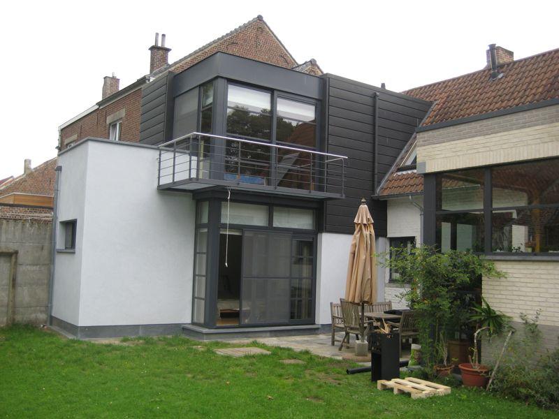 Extension d une maison 3 fa ades itterbeek dilbeek for Annexe en bois pour maison