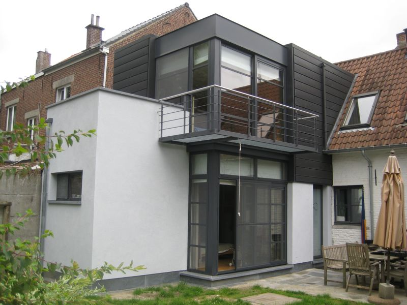 Extension d une maison 3 fa ades itterbeek dilbeek for Architecte pour agrandissement maison