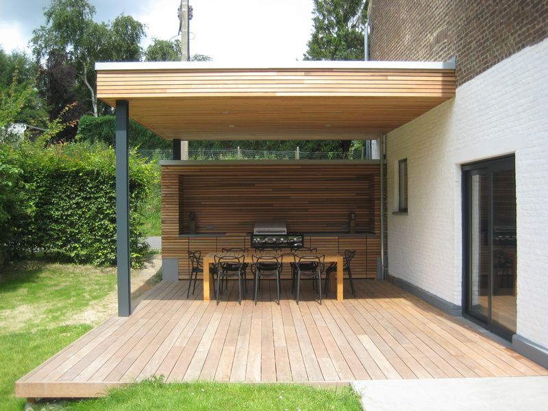 Patio Bois Moderne. Amazing Full Size Of Luxe Lampadaire Design Pour ...
