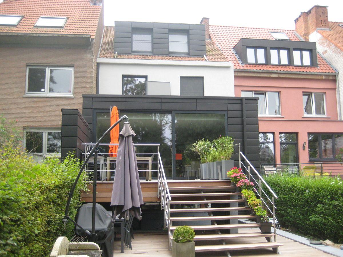 Extension d 39 une maison de ville watermael boitsfort for Extension maison 01