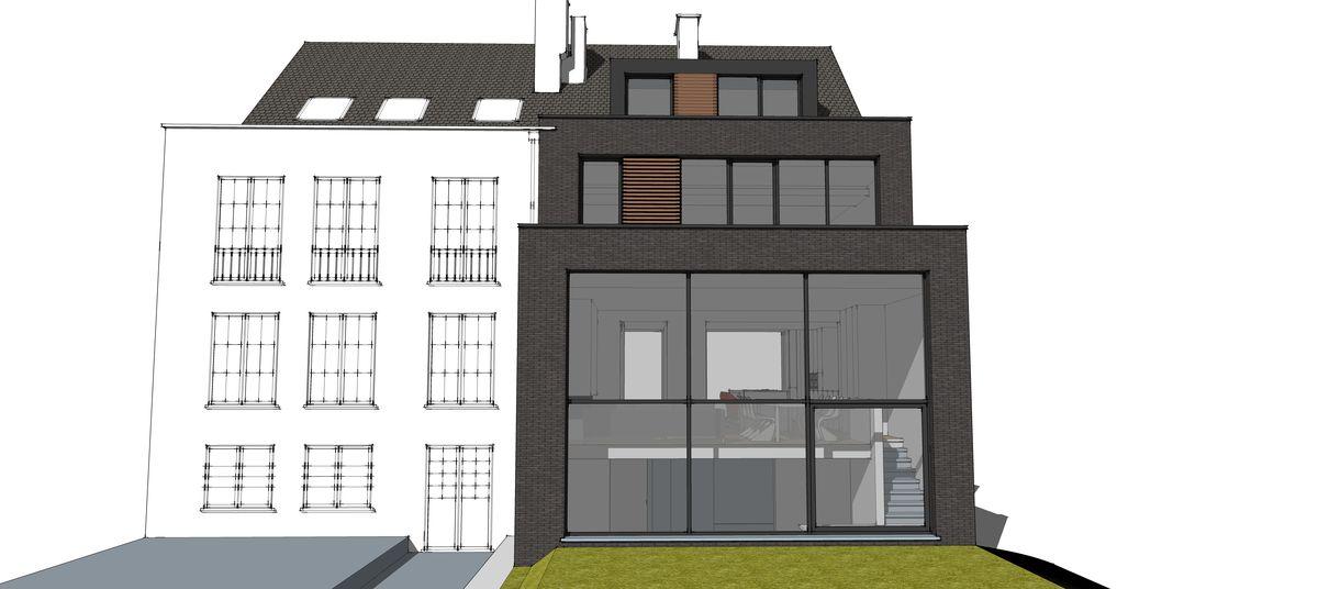 maison de ville kraainem herv vanden haute. Black Bedroom Furniture Sets. Home Design Ideas