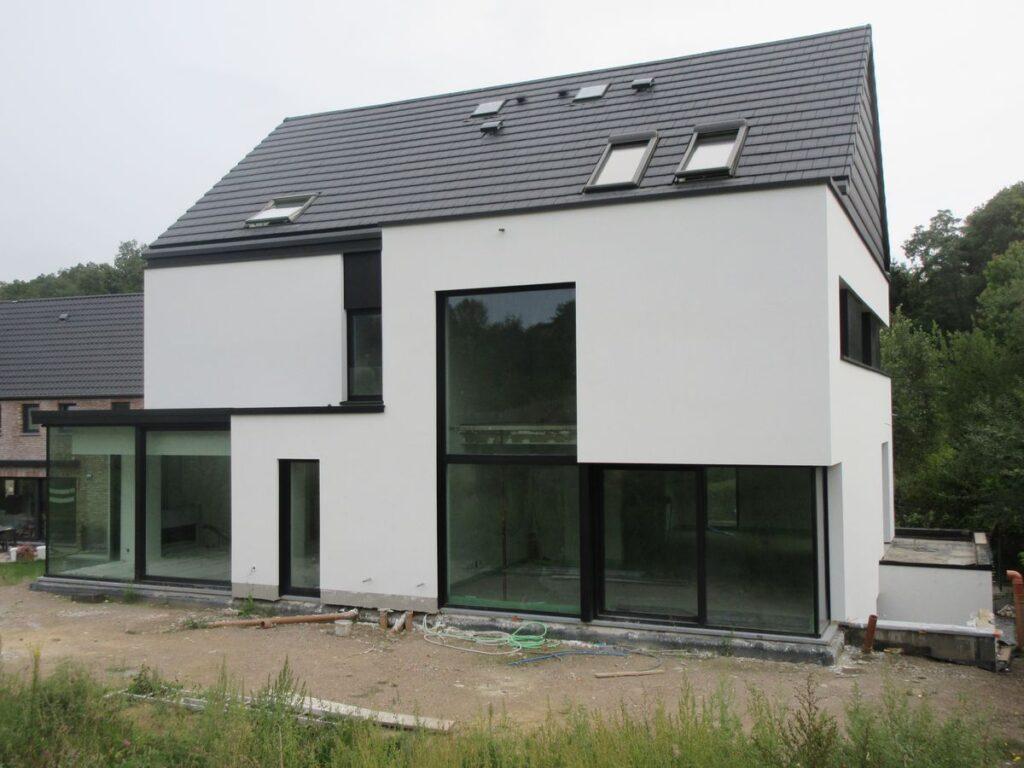 deux maisons mitoyennes à Wavre de HVH - Hervé Vanden Haute Architecte