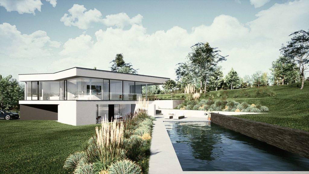 villa contemporaine avec piscine de Hervé Vanden Haute